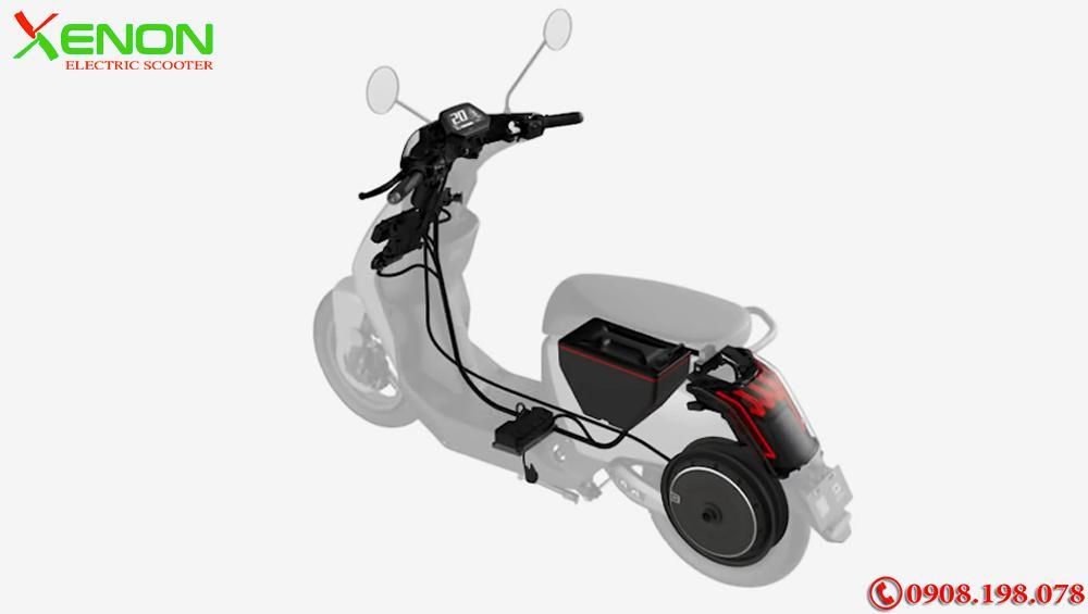 Xe  xe tay ga điện Super Soco Cux 2700W- Chạy 75km 1 Lần Sạc