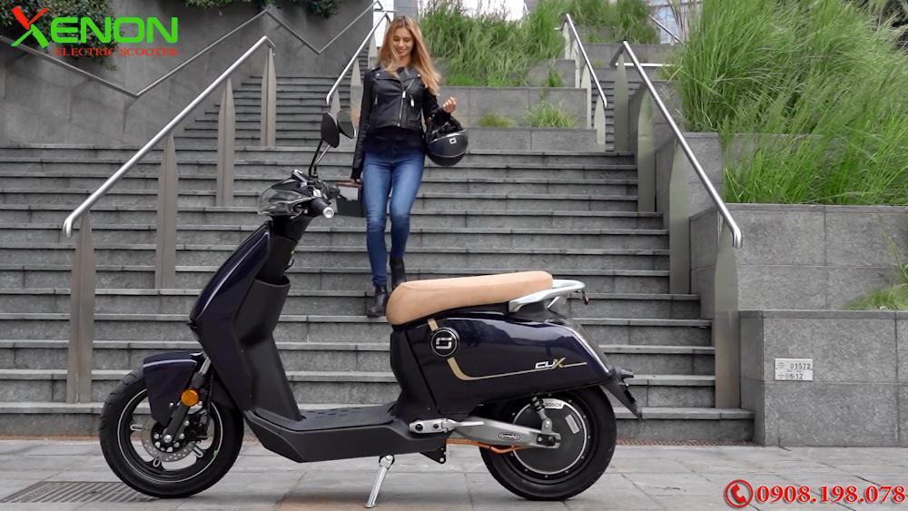 Xe  xe máy điện Super Soco Cux 2700W- Chạy 75km 1 Lần Sạc