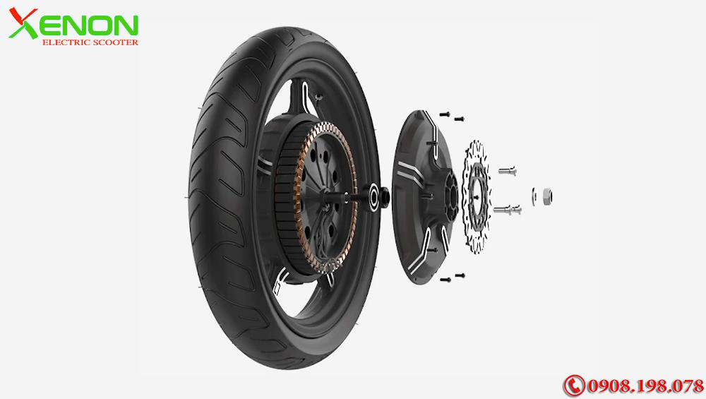 Xe  xe điện gấp gọn Super Soco Cux 2700W- Chạy 75km 1 Lần Sạc